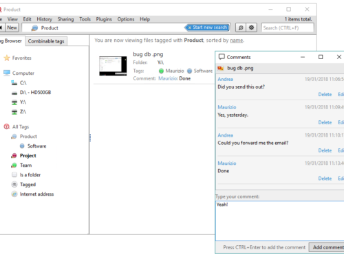 Collaborative comments: add comments to files in a collaborative and chat-like fashion