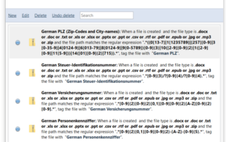 Data mine sensitive information German