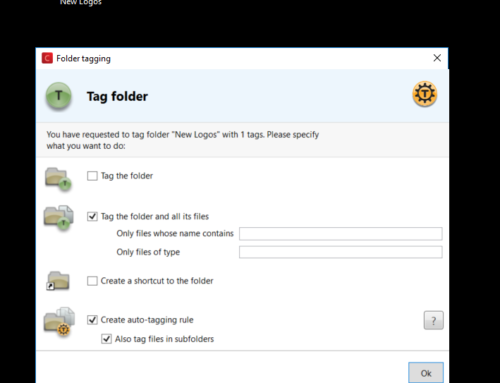Recursively tag a folder and create and auto-tagging rule in 7 clicks